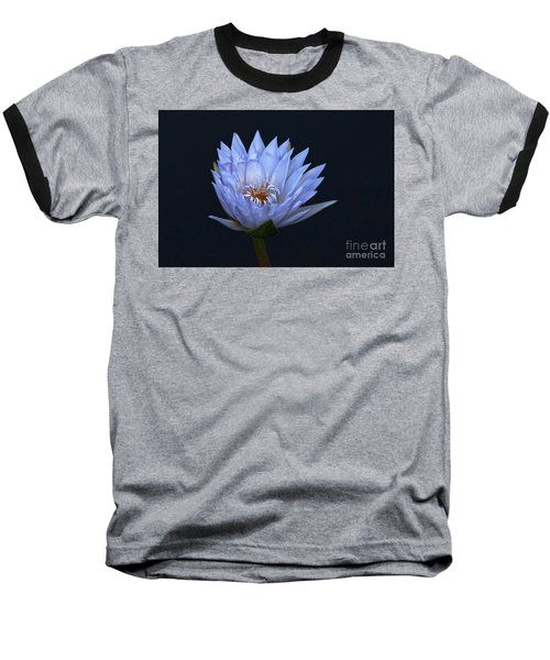 Water Lily Shades Of Blue And Lavender Baseball T-Shirt