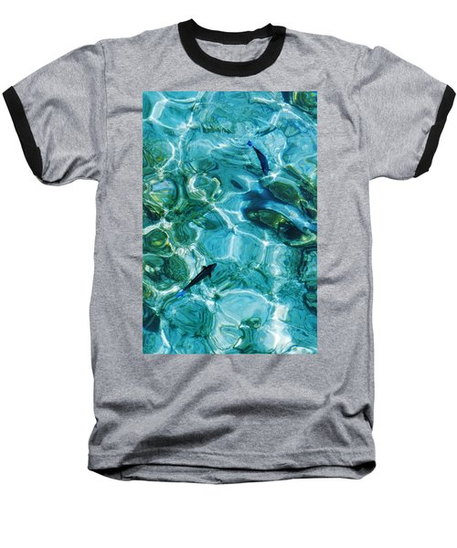 Water Meditation II. Five Elements. Healing With Feng Shui And Color Therapy In Interior Design Baseball T-Shirt by Jenny Rainbow