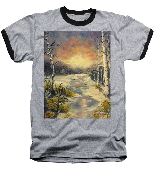 Baseball T-Shirt featuring the painting Water Music  by Megan Walsh