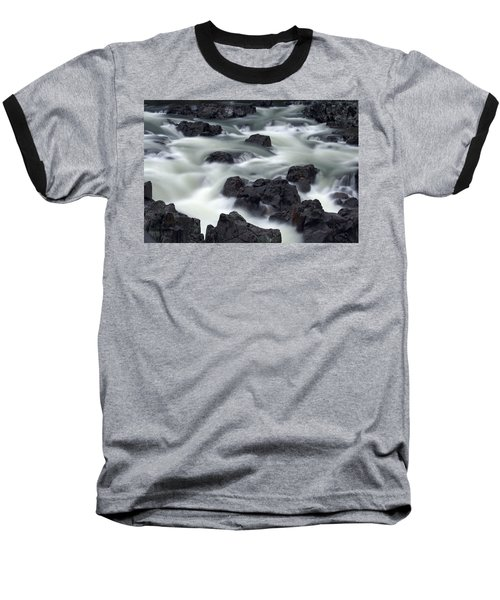 Water Over Rocks Baseball T-Shirt