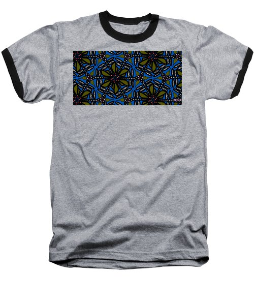 Baseball T-Shirt featuring the digital art Water Plant And Dragonfly by Elizabeth McTaggart