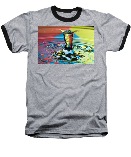 Water Splash Art Baseball T-Shirt