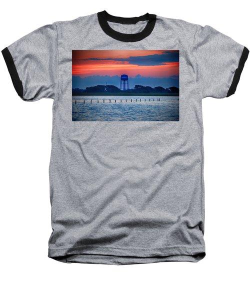 Water Tower Baseball T-Shirt by Michael Thomas