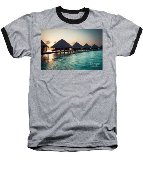 Waterbungalows At Sunset Baseball T-Shirt