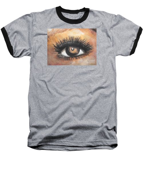 Watercolor Eye Baseball T-Shirt by Chrisann Ellis