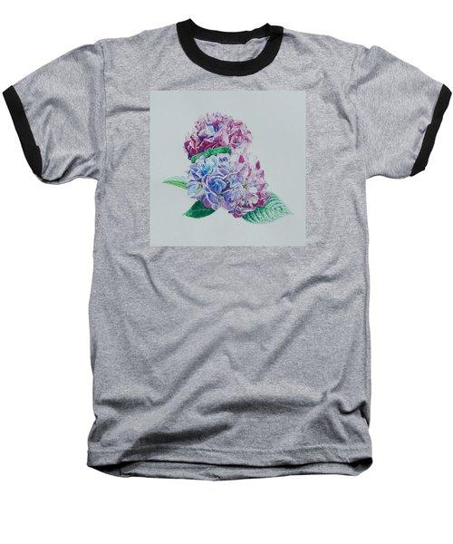 Watercolored Hydrangea Baseball T-Shirt