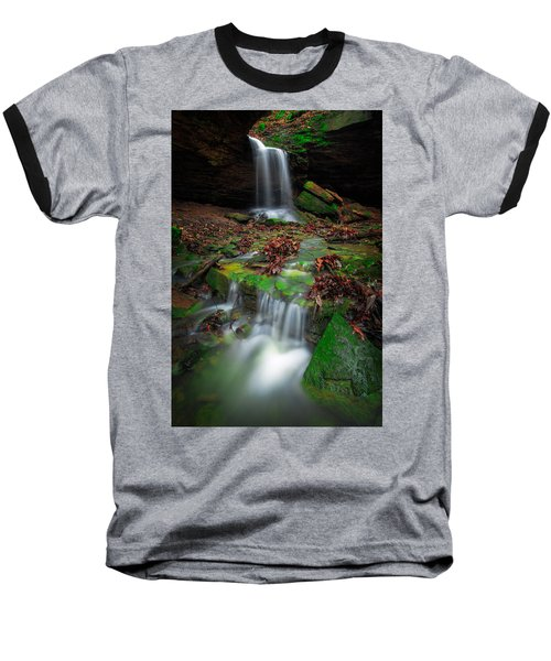Frankfort Mineral Springs Waterfall  Baseball T-Shirt