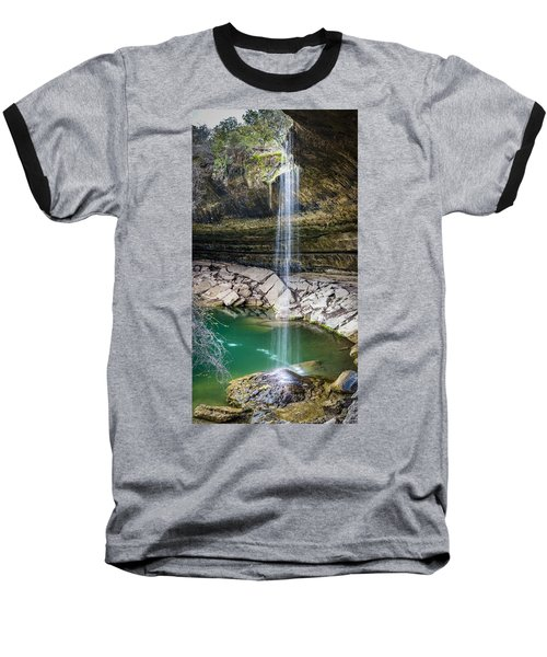 Waterfall At Hamilton Pool Baseball T-Shirt