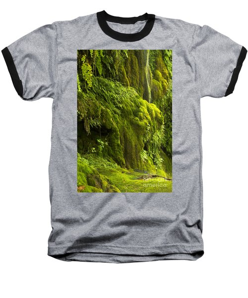 Baseball T-Shirt featuring the photograph Waterfall In Green by Bryan Keil