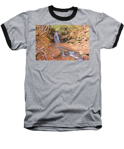 Waterfall In The Fall Baseball T-Shirt
