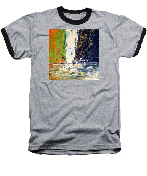 Waterfall No. 1 Baseball T-Shirt