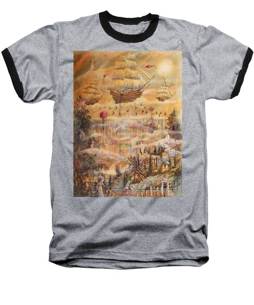 Waterfall Of Prosperity Baseball T-Shirt