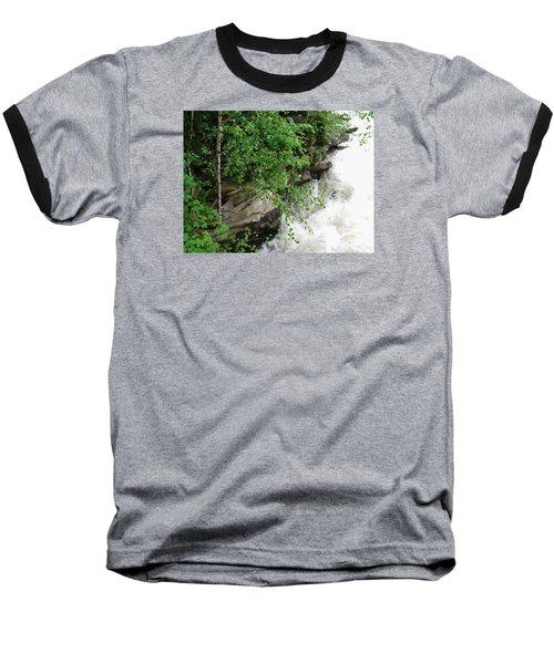 Waterfall Baseball T-Shirt by Oleg Zavarzin