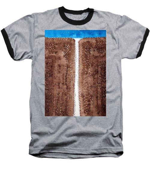 Waterfall Original Painting Baseball T-Shirt