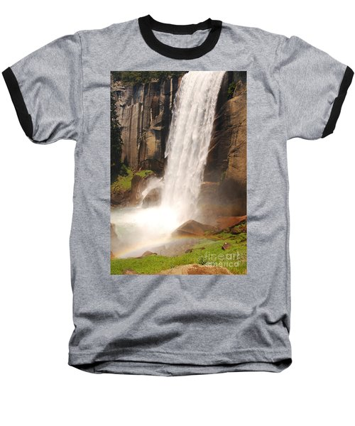 Baseball T-Shirt featuring the photograph Waterfall Rainbow by Mary Carol Story