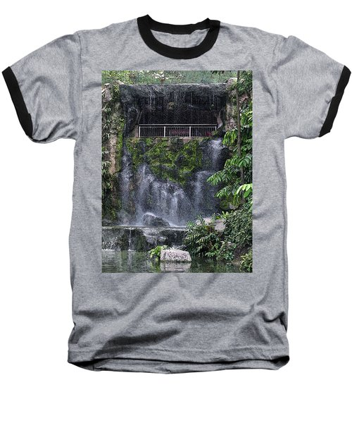 Baseball T-Shirt featuring the painting Waterfall by Sergey Lukashin