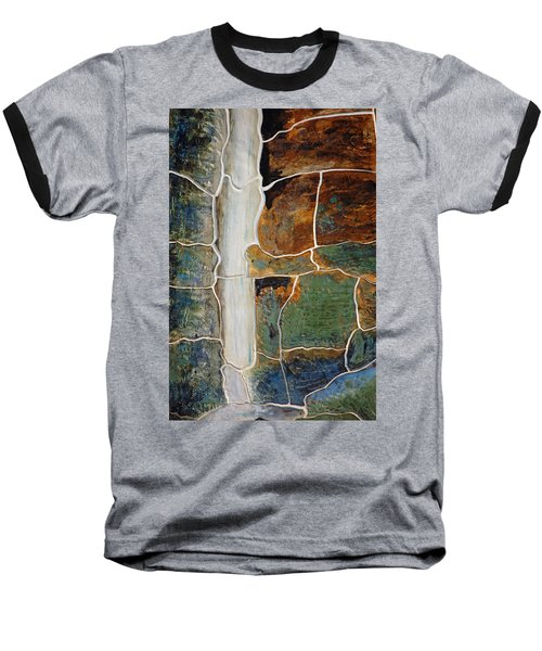 Waterfall Slate Baseball T-Shirt