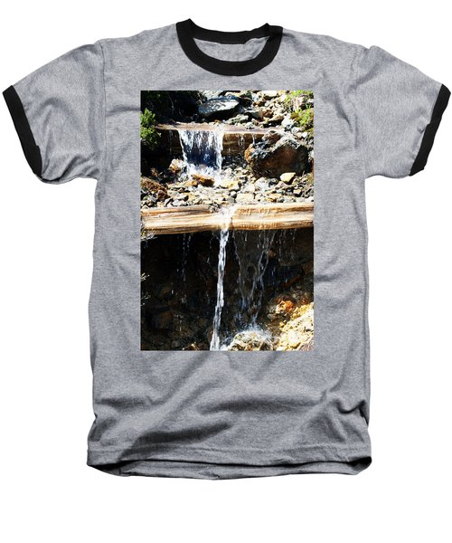 Waterfall Steps Baseball T-Shirt