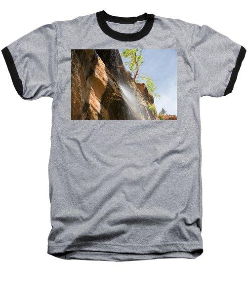 Waterfall Zion National Park Baseball T-Shirt