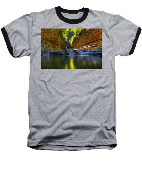 Waterfalls At Watkins Glen State Park Baseball T-Shirt