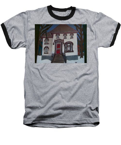 Baseball T-Shirt featuring the drawing Historic 7th Street Home In Menominee by Jonathon Hansen
