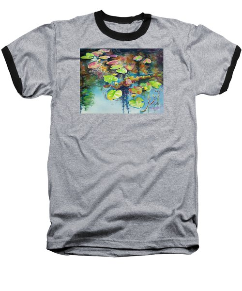Waterlilies In Shadow Baseball T-Shirt