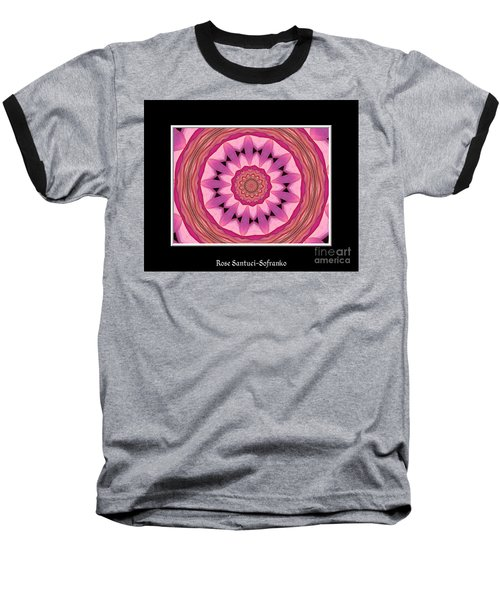 Baseball T-Shirt featuring the photograph Waterlily Flower Kaleidoscope 3 by Rose Santuci-Sofranko