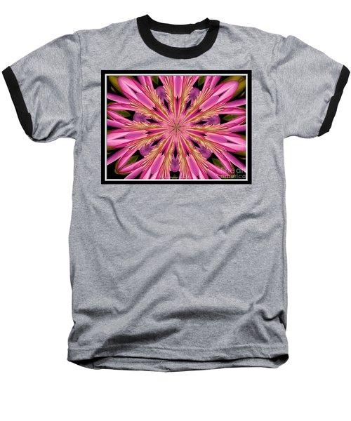 Waterlily Flower Kaleidoscope 4 Baseball T-Shirt by Rose Santuci-Sofranko