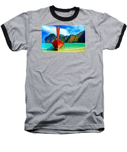 Watermarked-a Dreamy Version Collection Baseball T-Shirt by Catherine Lott