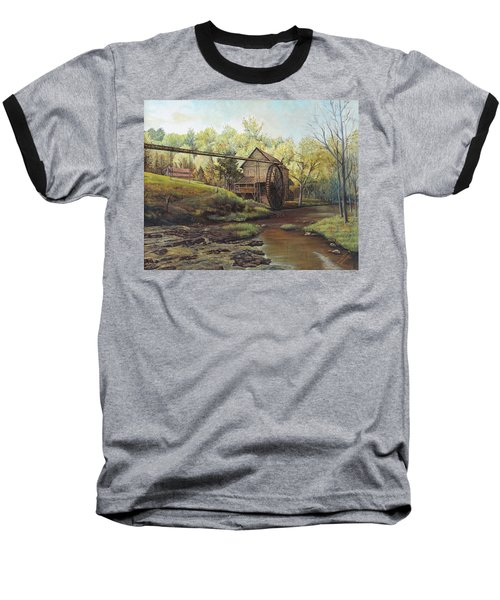 Watermill At Daybreak  Baseball T-Shirt by Mary Ellen Anderson