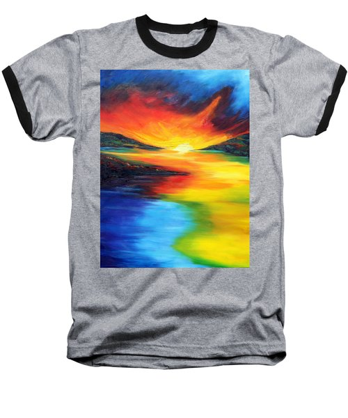Baseball T-Shirt featuring the painting Waters Of Home by Meaghan Troup