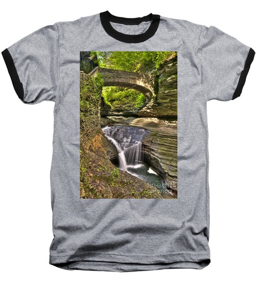 Watkins Glen Waterfalls Baseball T-Shirt
