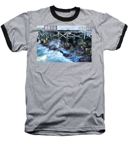 Wave Action Baseball T-Shirt by Susan Wiedmann