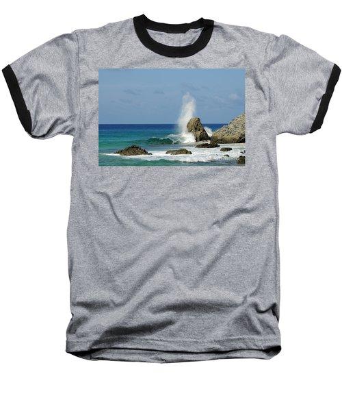 Wave At Boldro Beach Baseball T-Shirt