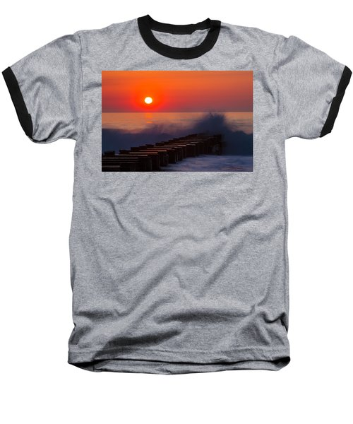 Breaking Wave At Sunrise Baseball T-Shirt