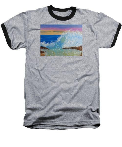 Wave At Sunrise Baseball T-Shirt