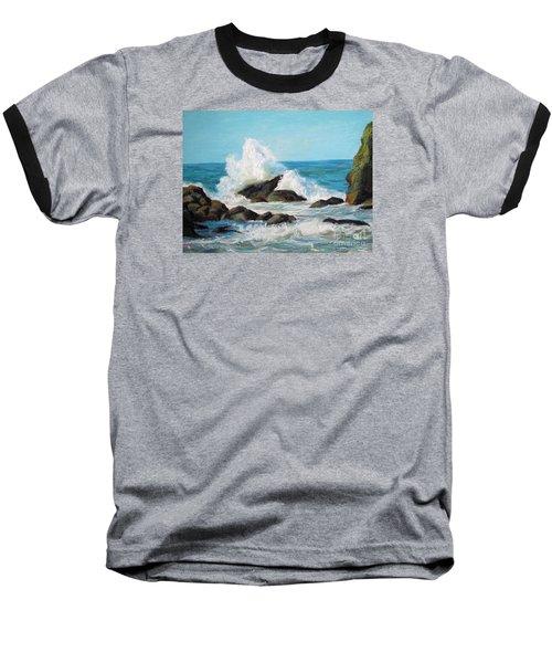 Wave Baseball T-Shirt by Jieming Wang