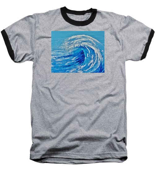 Baseball T-Shirt featuring the painting Wave by Katherine Young-Beck
