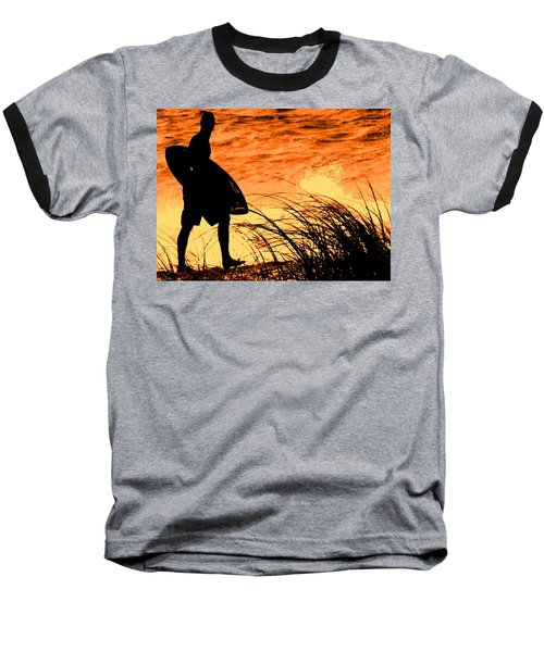 Wave Search Baseball T-Shirt