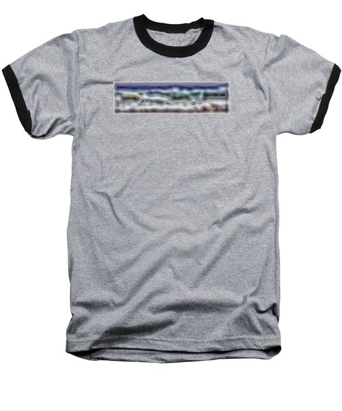 Abstract Waves 15 Baseball T-Shirt by Walt Foegelle