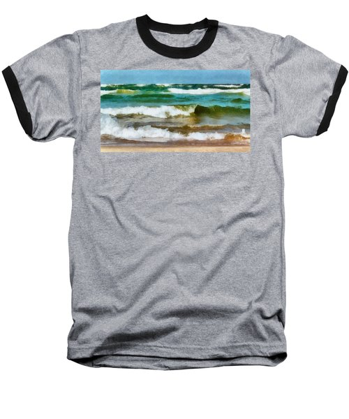 Waves Crash Baseball T-Shirt