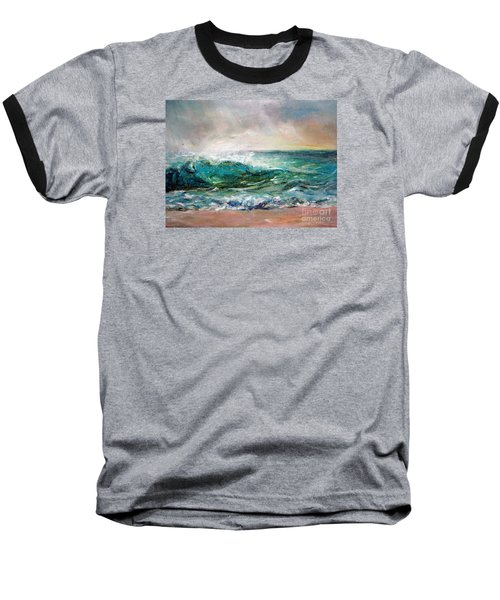 Waves Baseball T-Shirt by Jieming Wang