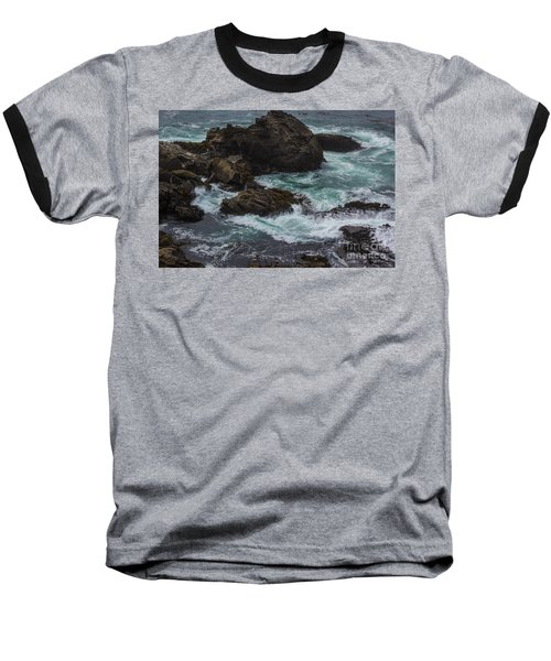 Waves Meet Rock Baseball T-Shirt
