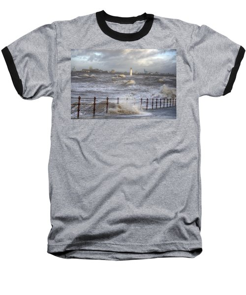 Waves On The Slipway Baseball T-Shirt by Spikey Mouse Photography