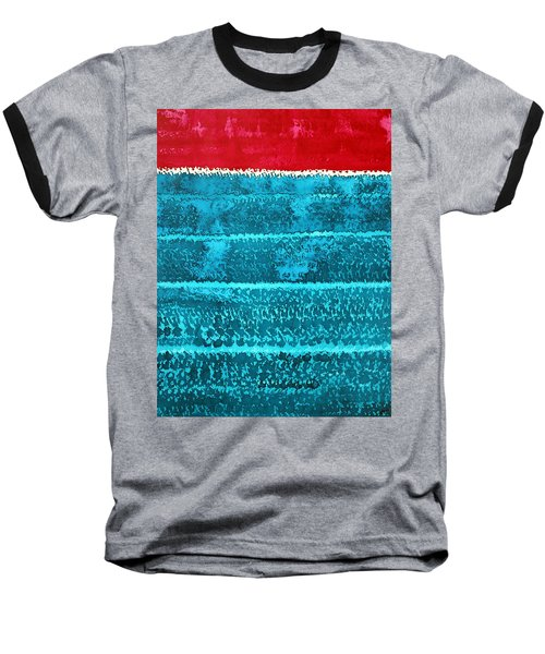 Waves Original Painting Baseball T-Shirt