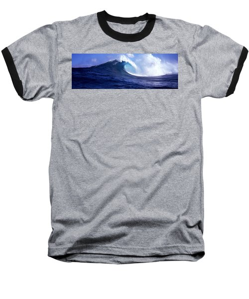 Waves Splashing In The Sea, Maui Baseball T-Shirt