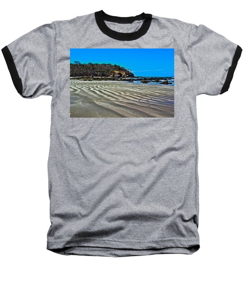 Wavy Beach Baseball T-Shirt