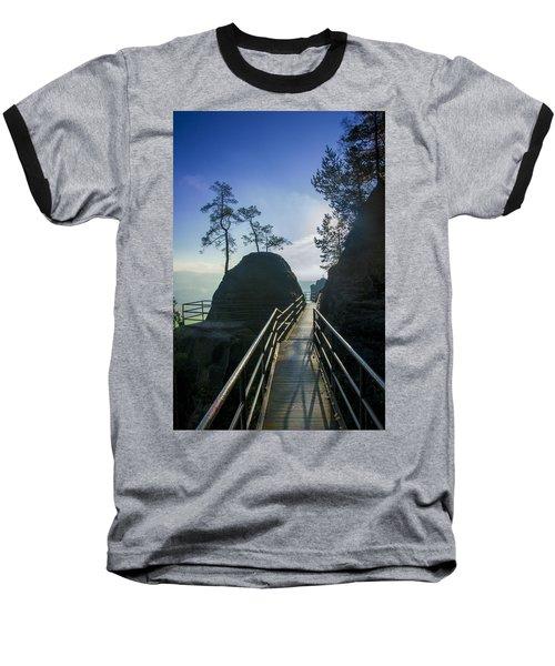 Way Into The Light On Neurathen Castle Baseball T-Shirt