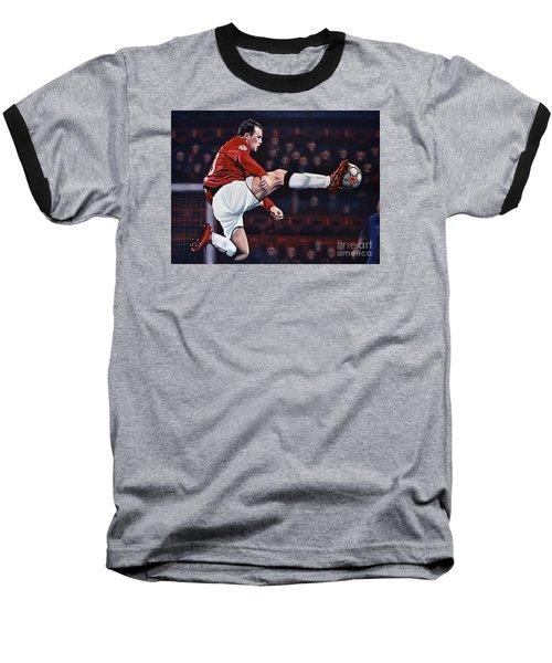 Wayne Rooney Baseball T-Shirt by Paul Meijering