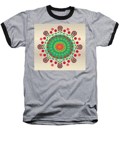 Wayuu Art Garden Baseball T-Shirt by Gabriela Delgado